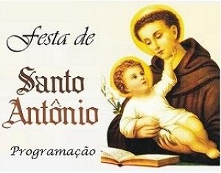 PROGRAMAÇÃO PARA A FESTA DE SANTO ANTÔNIO