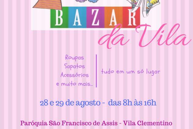 Próximo Bazar dias 28 e 29 de agosto