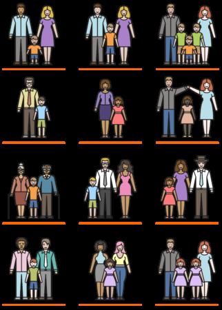 família - configurações